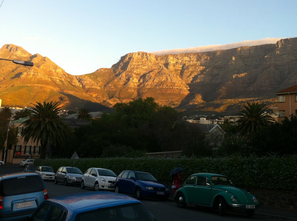 Devil's Peak & Table Mountain just outside our hotel