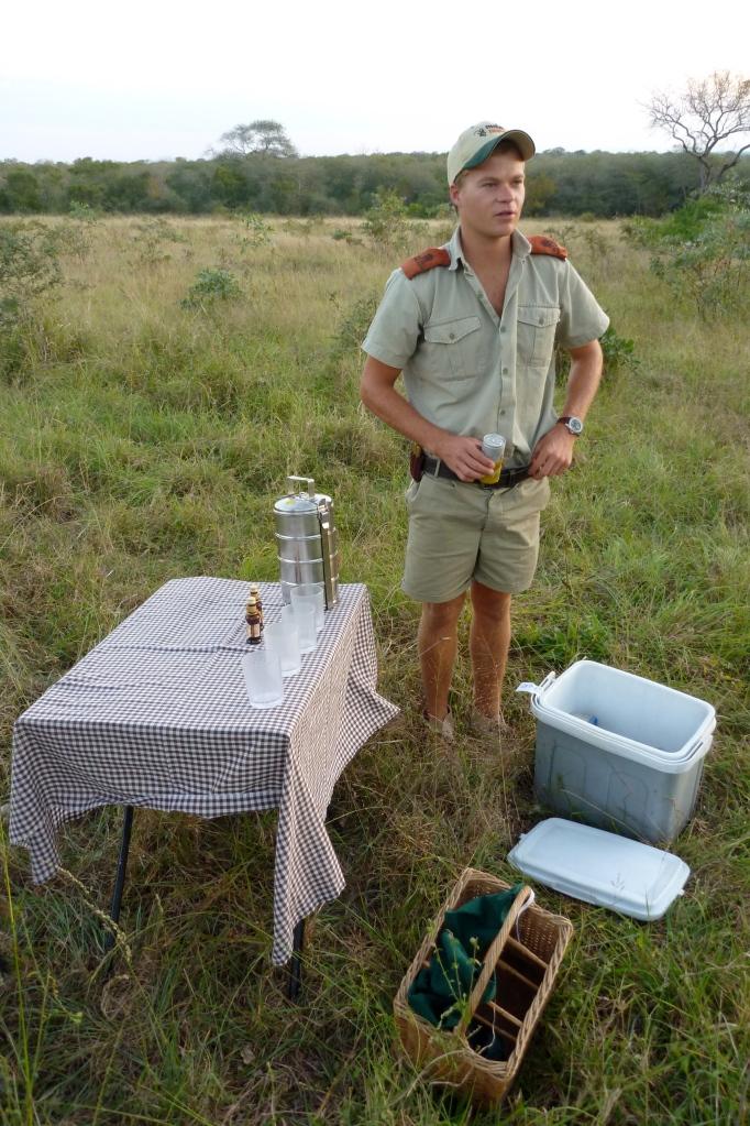 Gary setting up for our sundowner