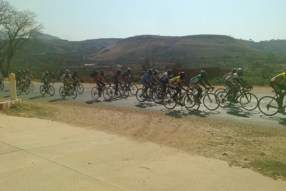 (June) Around 60 cyclists passed by our gate taking place in the second-annual Tour de Congo