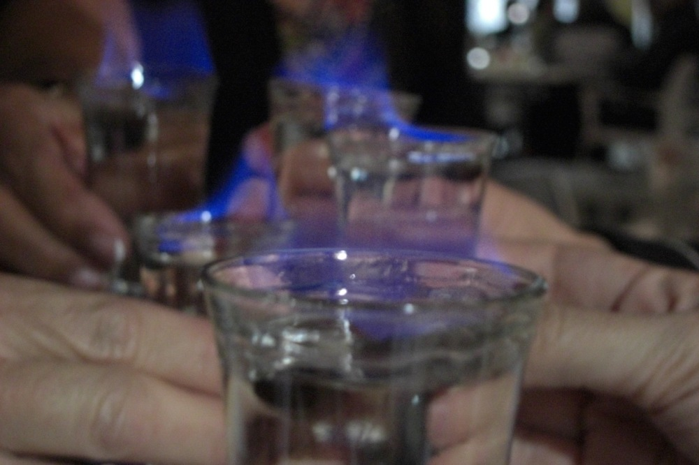 Sambuca with the girls, July 2011.