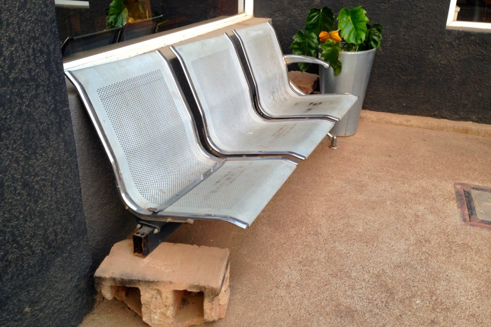 Meanwhile, there's the seating outside our business class lounge...