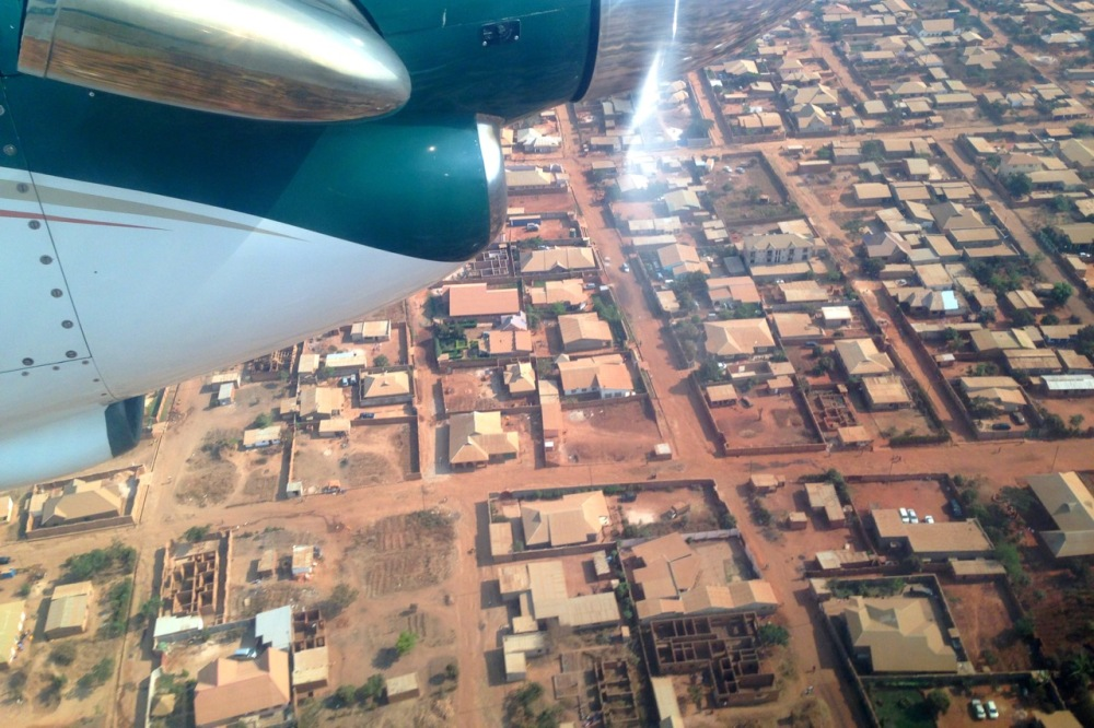 Flying into Lubumbashi.