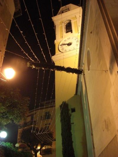 A quiet cobblestone alleyway in Villefranche-sur-Mer