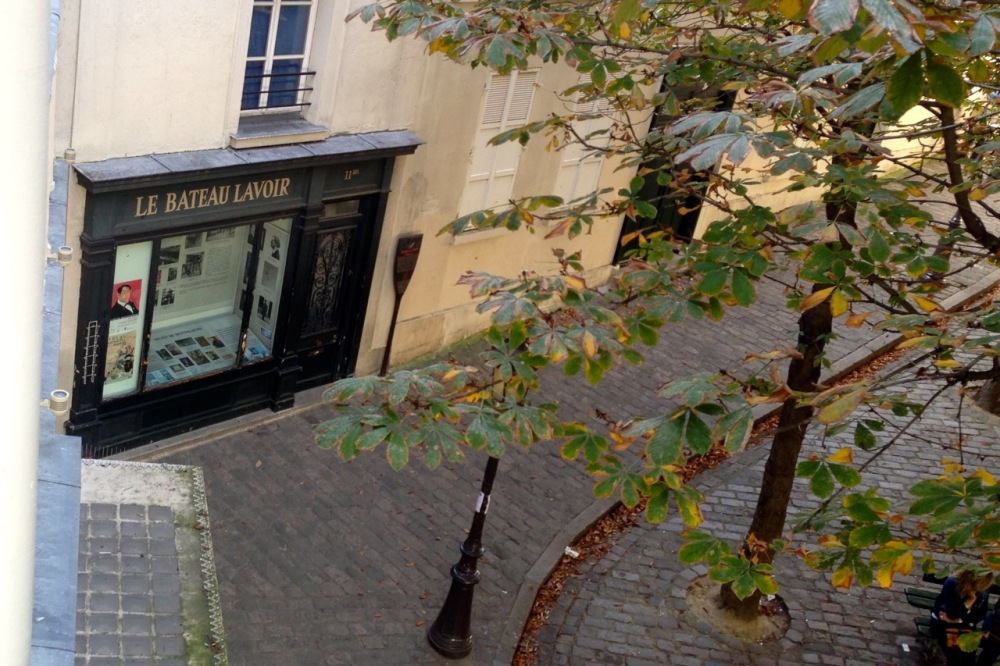 Le Bateau-Lavoir from my window, once Picasso's residence, September 2014