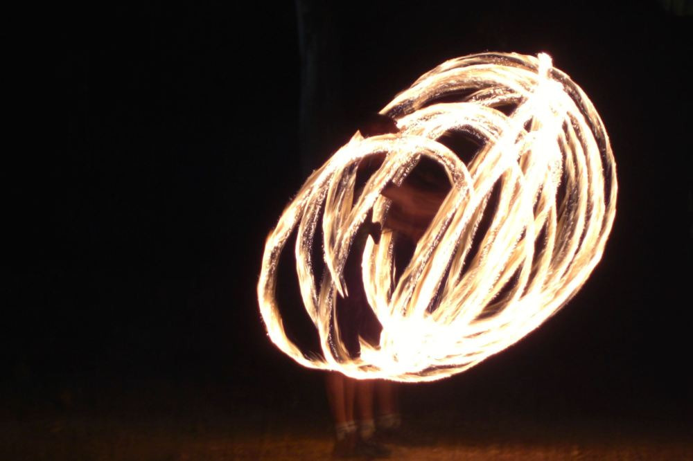 Fire dancing by Willie