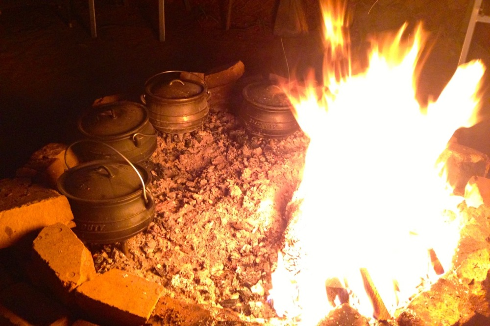 (Sept 2014) Practicing for the upcoming potjie competition at a friend's house.