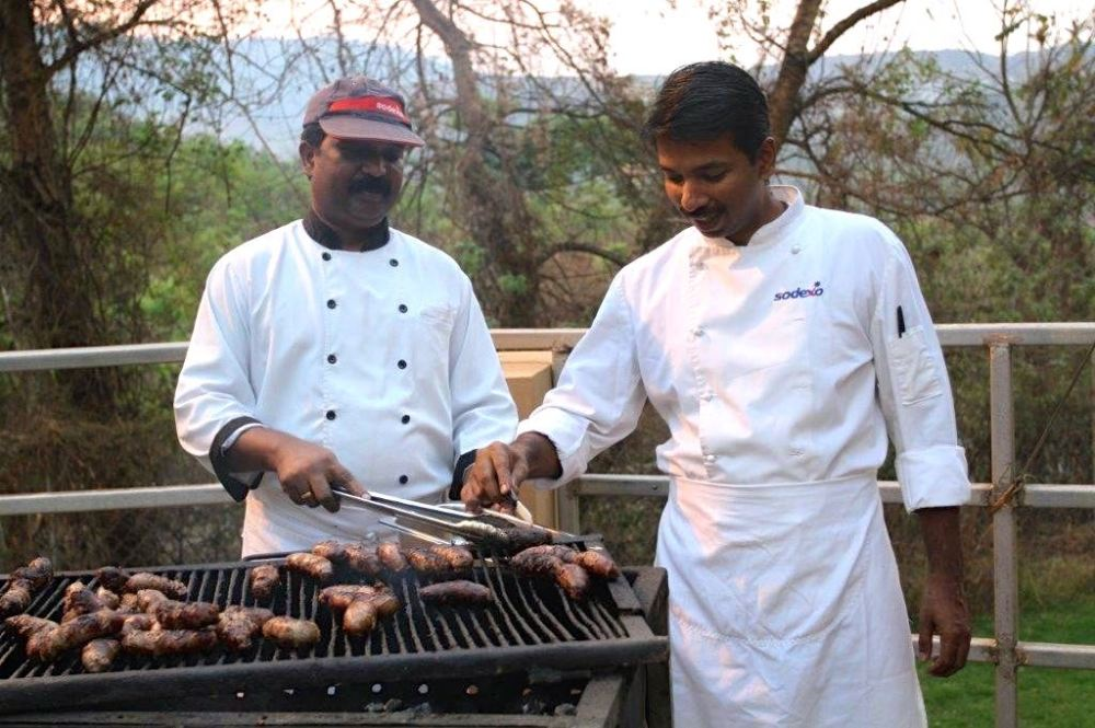 Our catering company and their braai