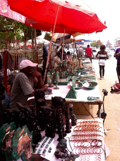 Another outdoor malachite market, downtown Lubumbashi, September 2013. This one is less crazy-making than Ruashi, but only slightly.