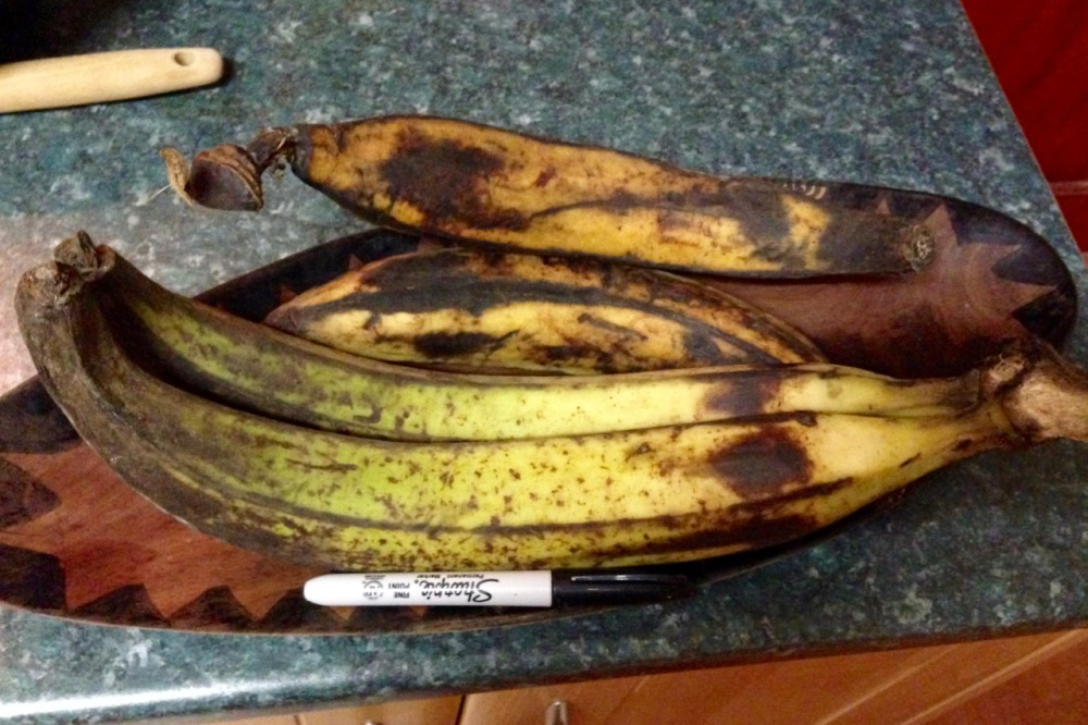 Two kinds of plantains here