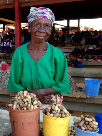 One of our favorite ladies from the local Fungurume market. She's always there selling something (peanuts, lately) with a huge smile for us.