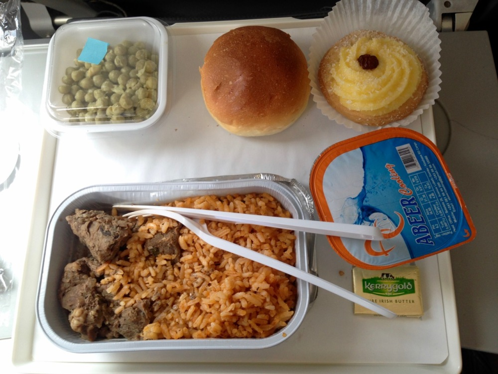 I have a weird tradition of taking a photo of the food each time I travel with a new airline. Doesn't look like much but this was all extremely tasty, and no after effects amongst our group. Shortly after this shot, did I mention already, they came around with free WINE? Way more service than I expected.