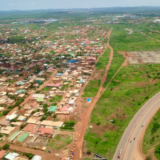 February 2016: Lubumbashi from the air (flying in for another ladies' shopping trip)