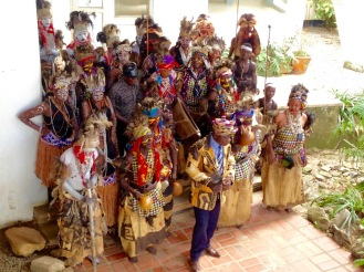 May 2016: A cultural event spotted by chance at the National Museum in Lubumbashi with friend Laura. Several tribes represented here, with their Parliament leader in the middle front.