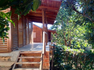 June 2016: The cabins at Kisanfu remind us of being on safari