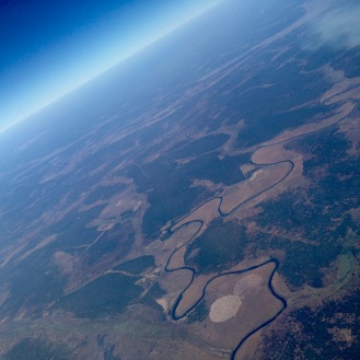 June 2016: Flying over Konkola Forest Reserve in Zambia, on our way to Italy (via Johannesburg, logically)